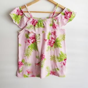 CHILDREN'S PLACE Girl's Top Floral Pink Size XL